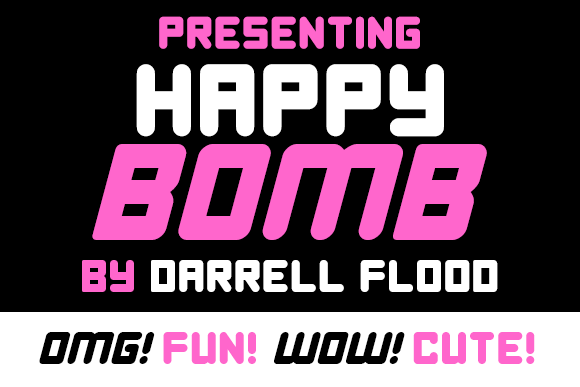 Print on Demand: Happy Bomb Display Font By Dadiomouse