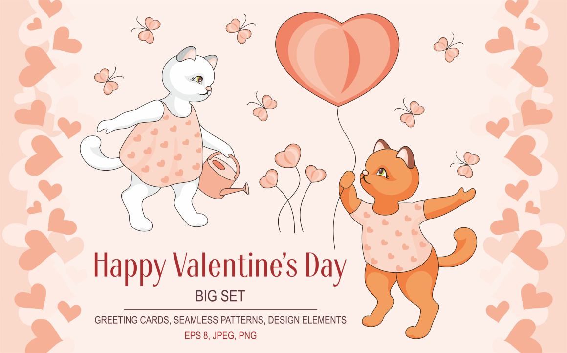 Happy Valentine's Day Vector Set