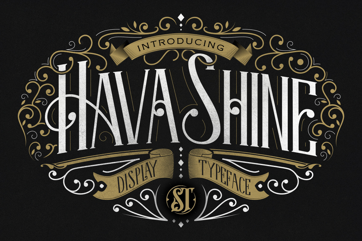 Print on Demand: Hava Shine Decorative Font By storictype