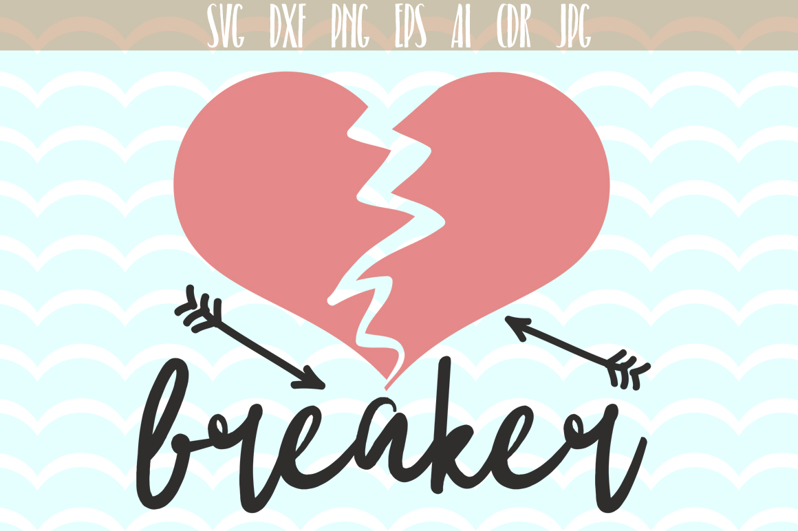 Download Free Heart Breaker Fun Design For Love Svg Cutting File Graphic By for Cricut Explore, Silhouette and other cutting machines.