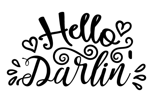 Download Free Hello Darlin Svg Cut File By Creative Fabrica Crafts Creative for Cricut Explore, Silhouette and other cutting machines.