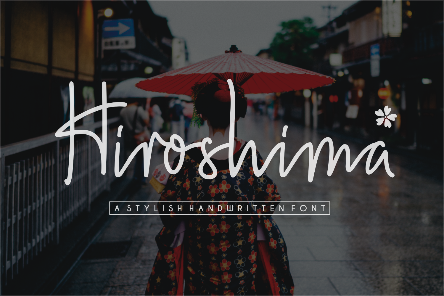 Print on Demand: Hiroshima Script & Handwritten Font By Sronstudio