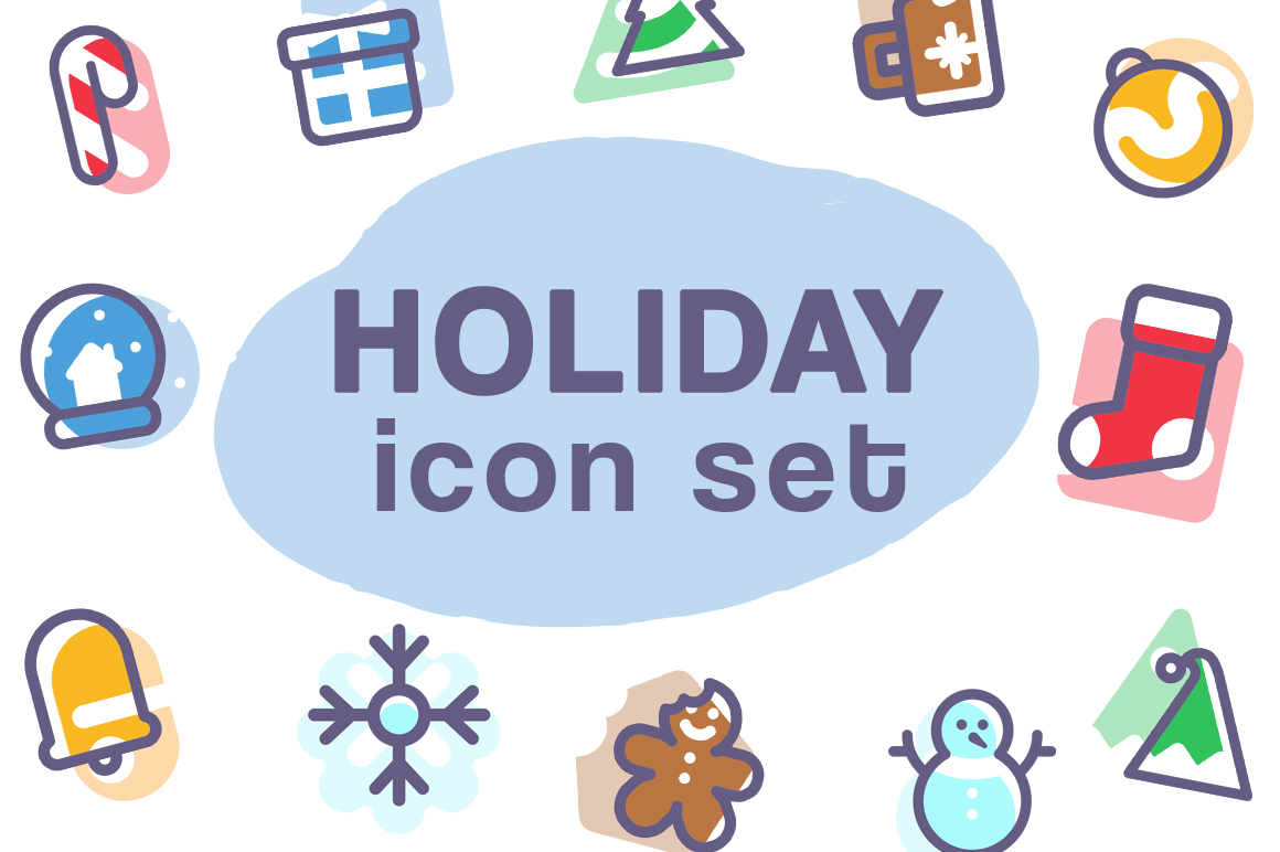 Holiday Icon Set Gráfico Iconos Por Creative Fabrica Freebies