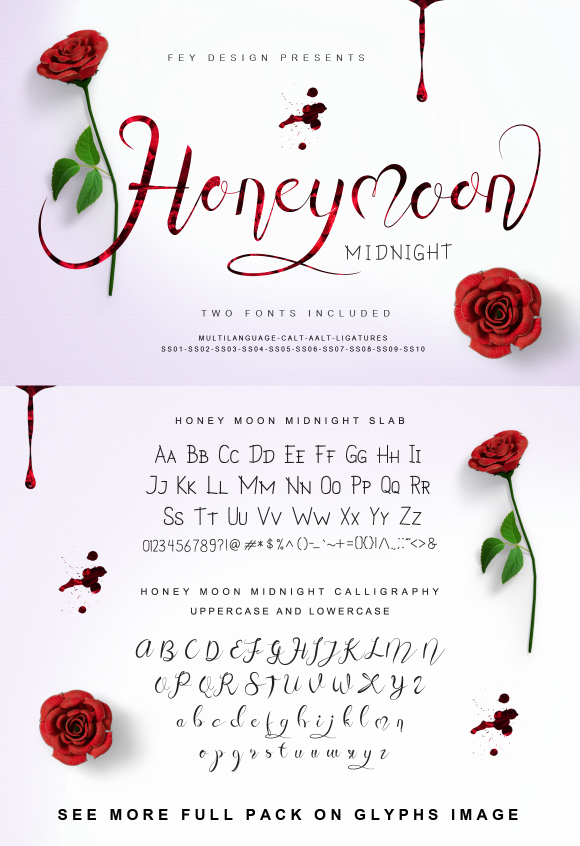 Print on Demand: Honey Moon Midnight Script & Handwritten Font By feydesign - Image 8