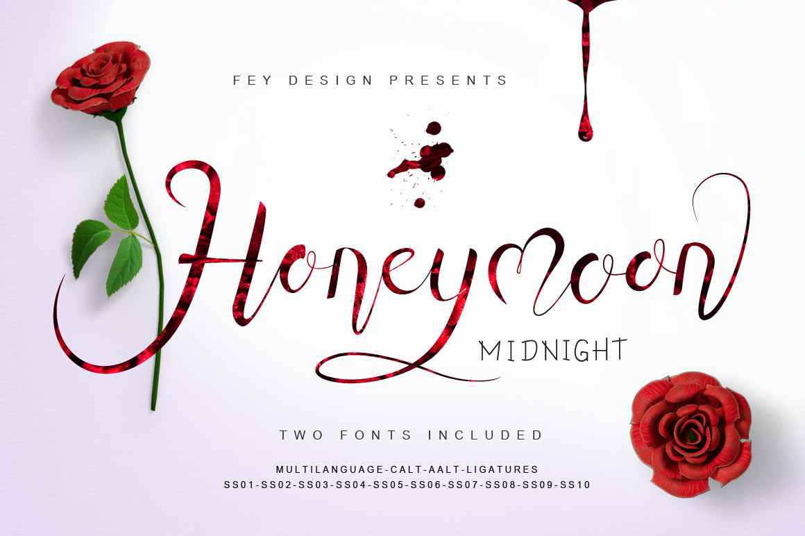 Print on Demand: Honey Moon Midnight Script & Handwritten Font By feydesign - Image 1