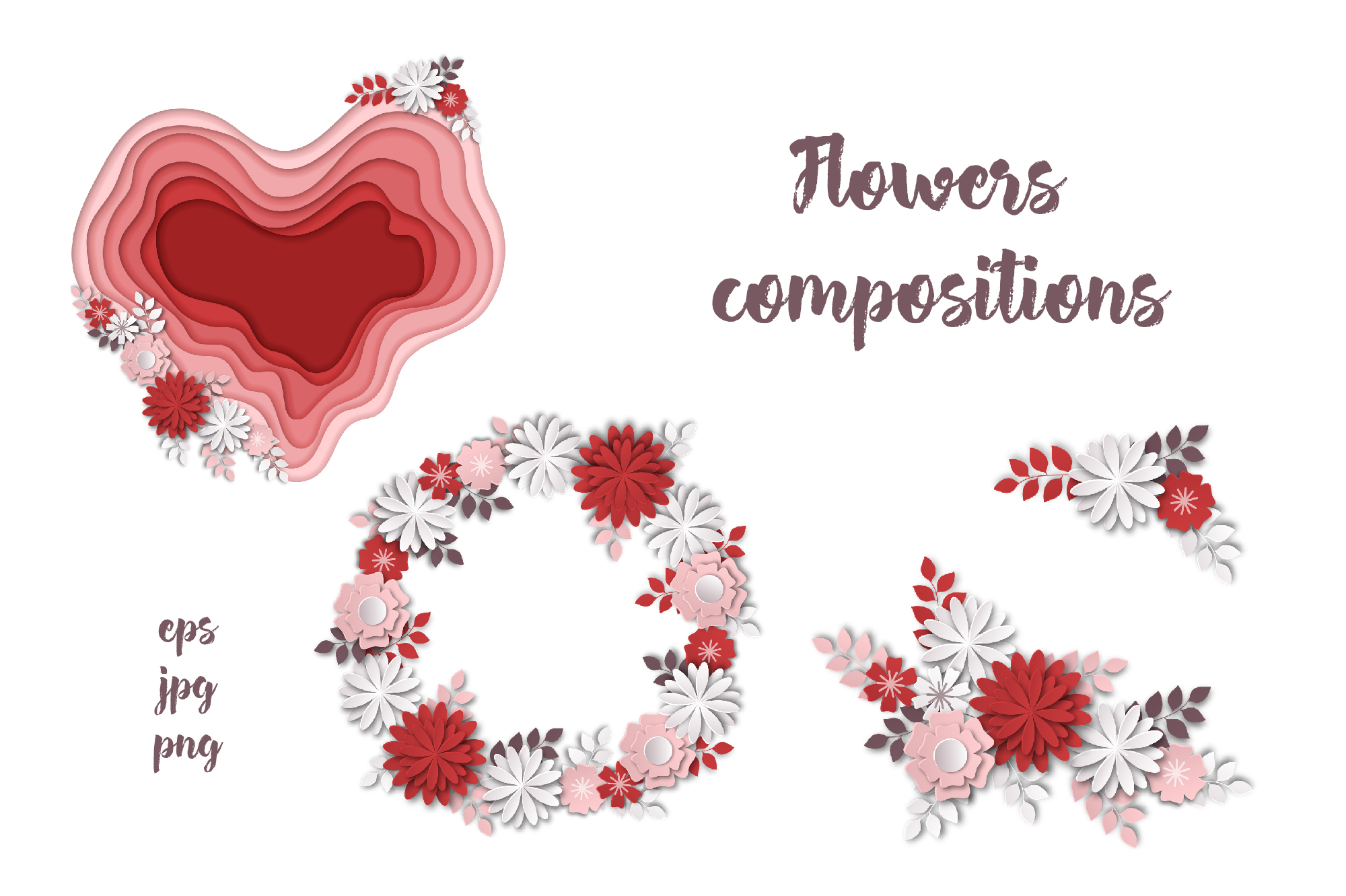 Print on Demand: Horses, Flowers & Love – Vector Paper Art Style Graphic Illustrations By nicjulia - Image 2