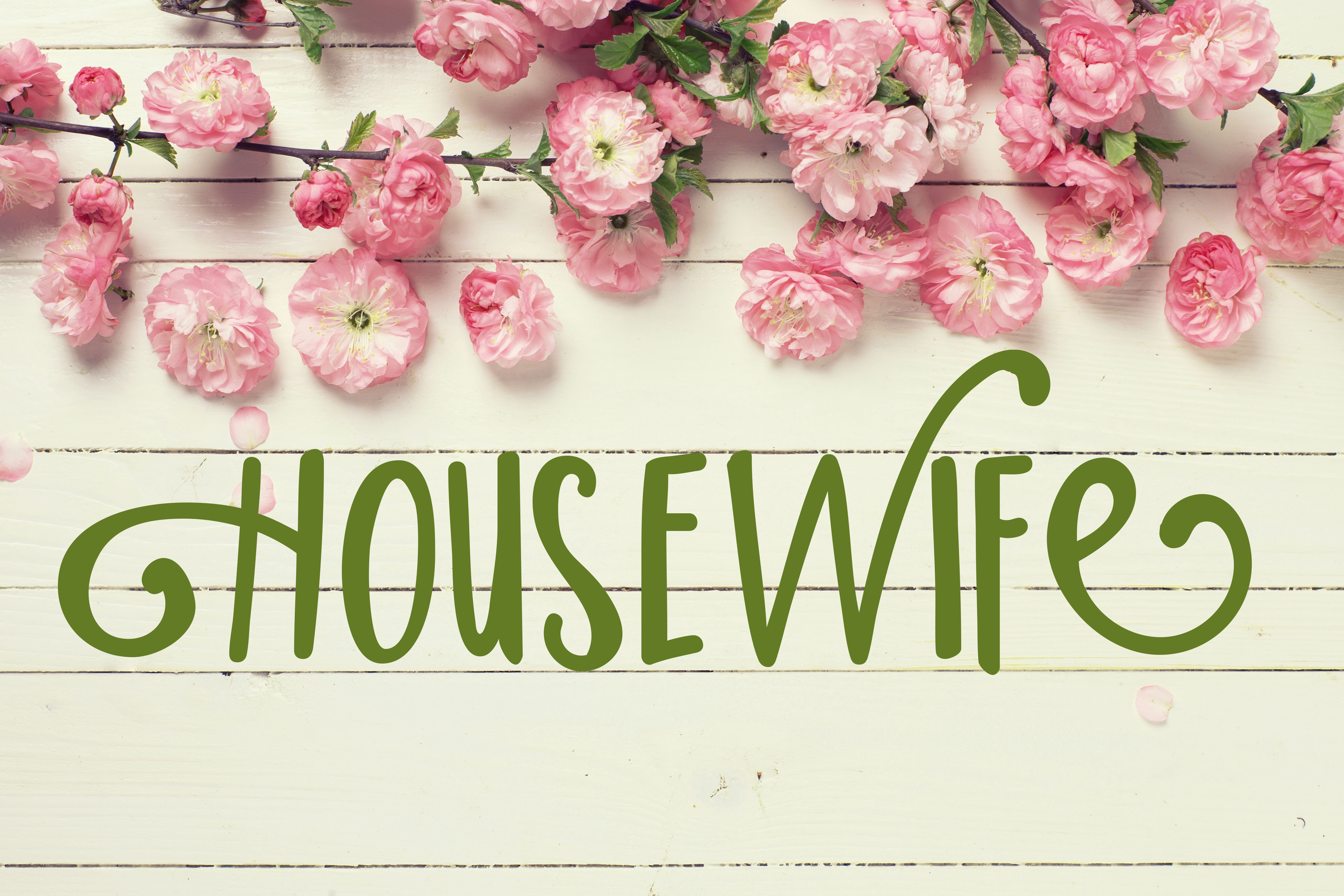 Print on Demand: Housewife Script & Handwritten Font By Illustration Ink - Image 2