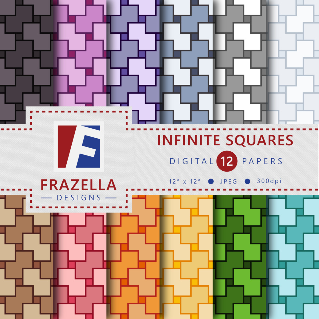 Download Free Infinite Squares Digital Paper Collection Graphic By Frazella for Cricut Explore, Silhouette and other cutting machines.