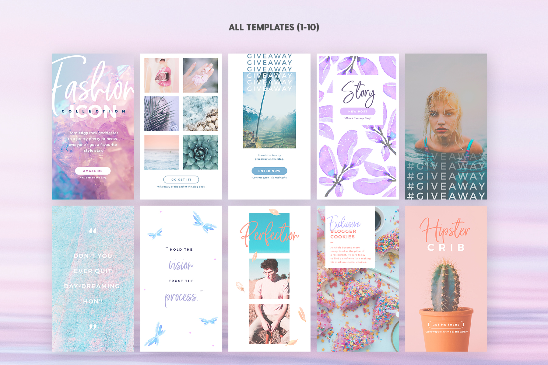 Instagram Stories - Dreamy Vibes Ed. Graphic Web Elements By lavie1blonde - Image 3