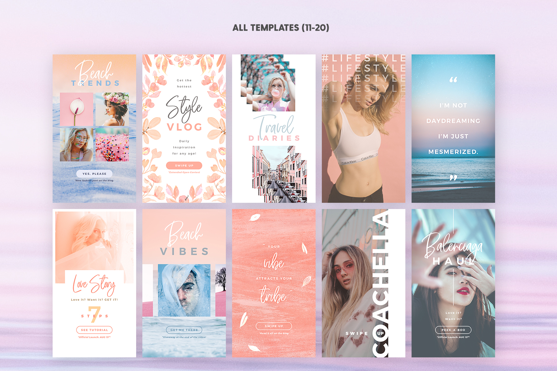 Instagram Stories - Dreamy Vibes Ed. Graphic Web Elements By lavie1blonde - Image 4