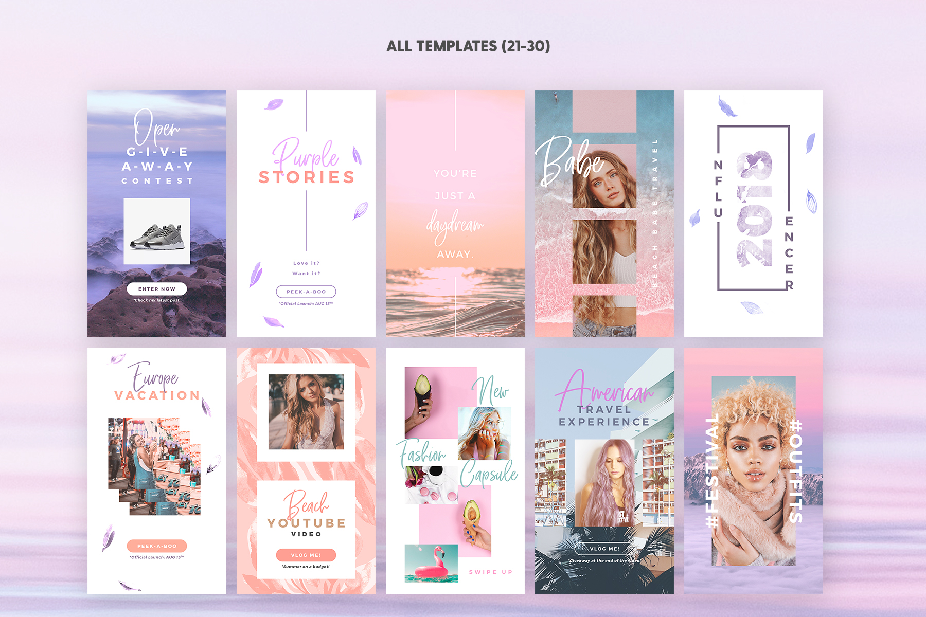 Instagram Stories - Dreamy Vibes Ed. Graphic Web Elements By lavie1blonde - Image 5