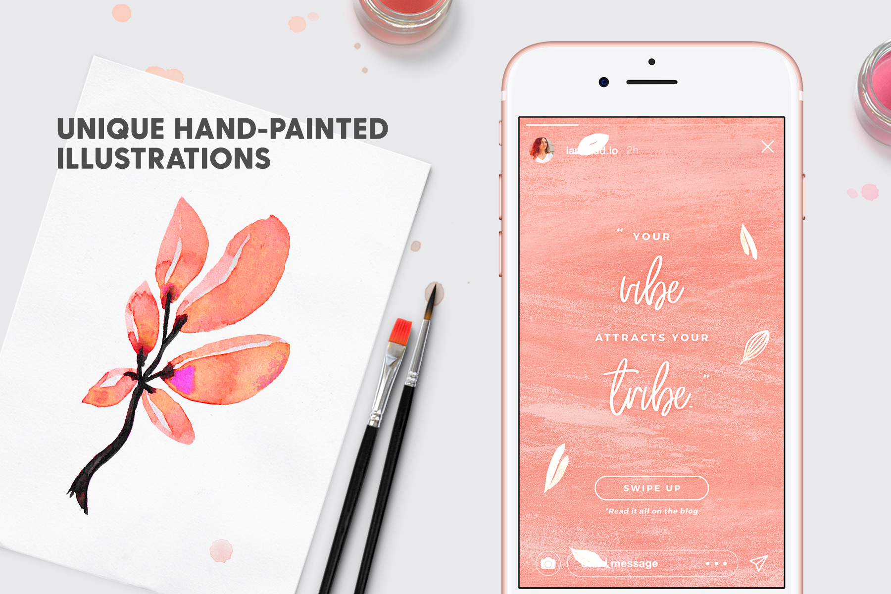 Instagram Stories - Dreamy Vibes Ed. Graphic Web Elements By lavie1blonde - Image 7