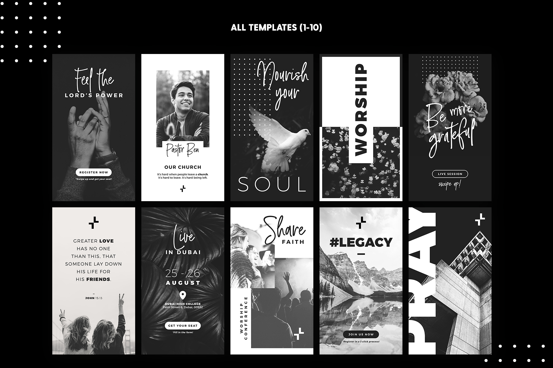 Instagram Stories - New Church Edition Graphic Presentation Templates By lavie1blonde - Image 3