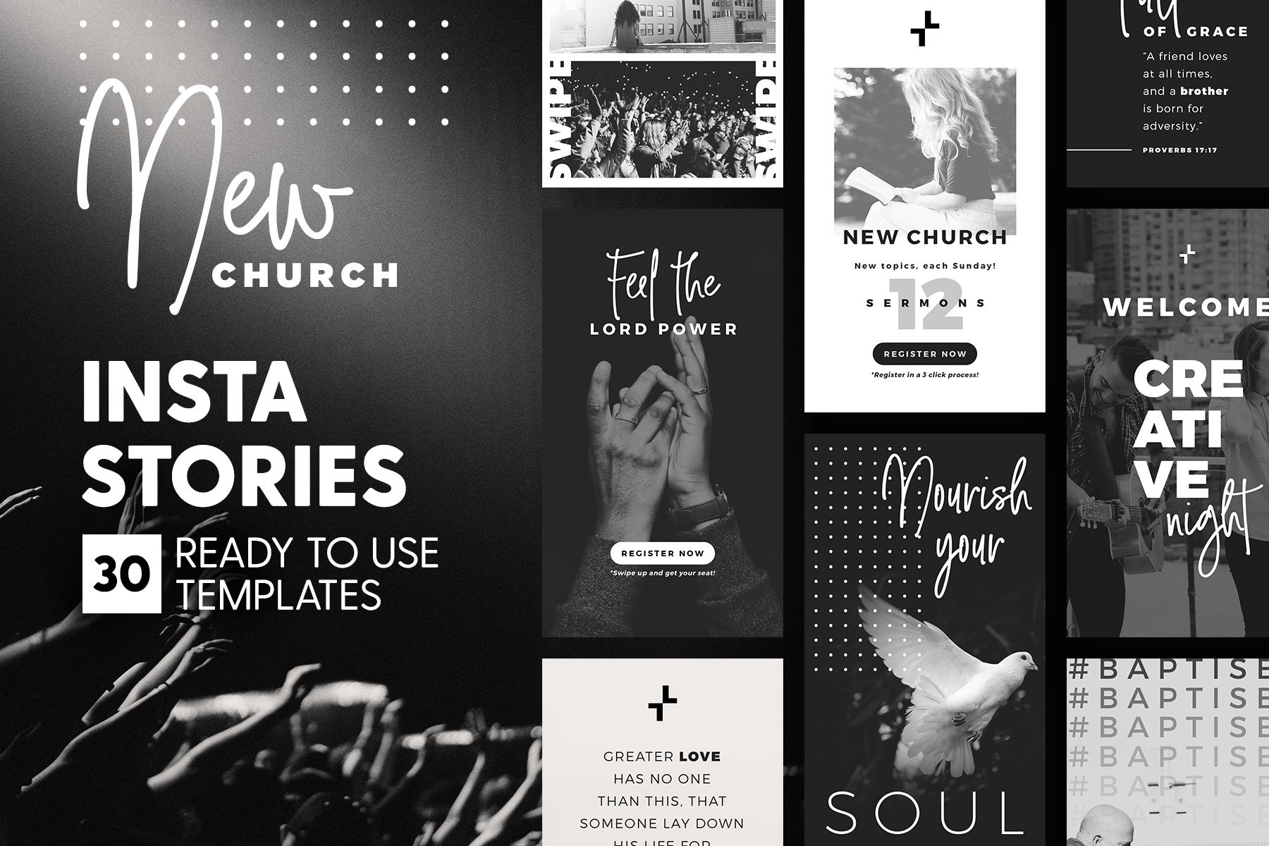 Instagram Stories - New Church Edition Graphic Presentation Templates By lavie1blonde - Image 1