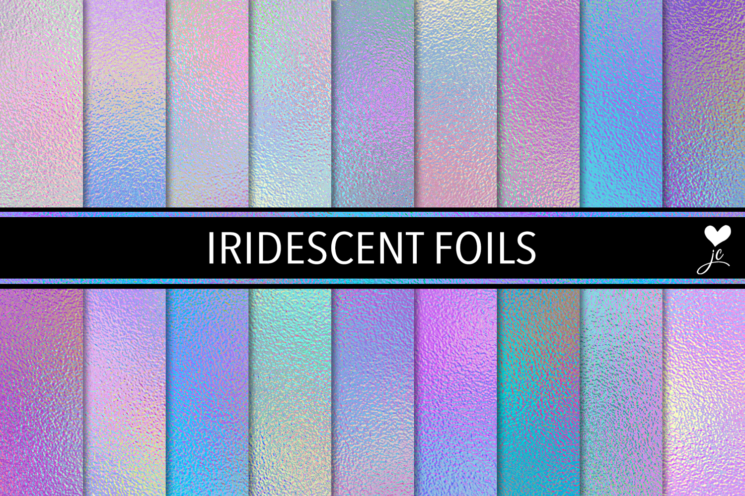 Print on Demand: Iridescent Foils Graphic Textures By JulieCampbellDesigns