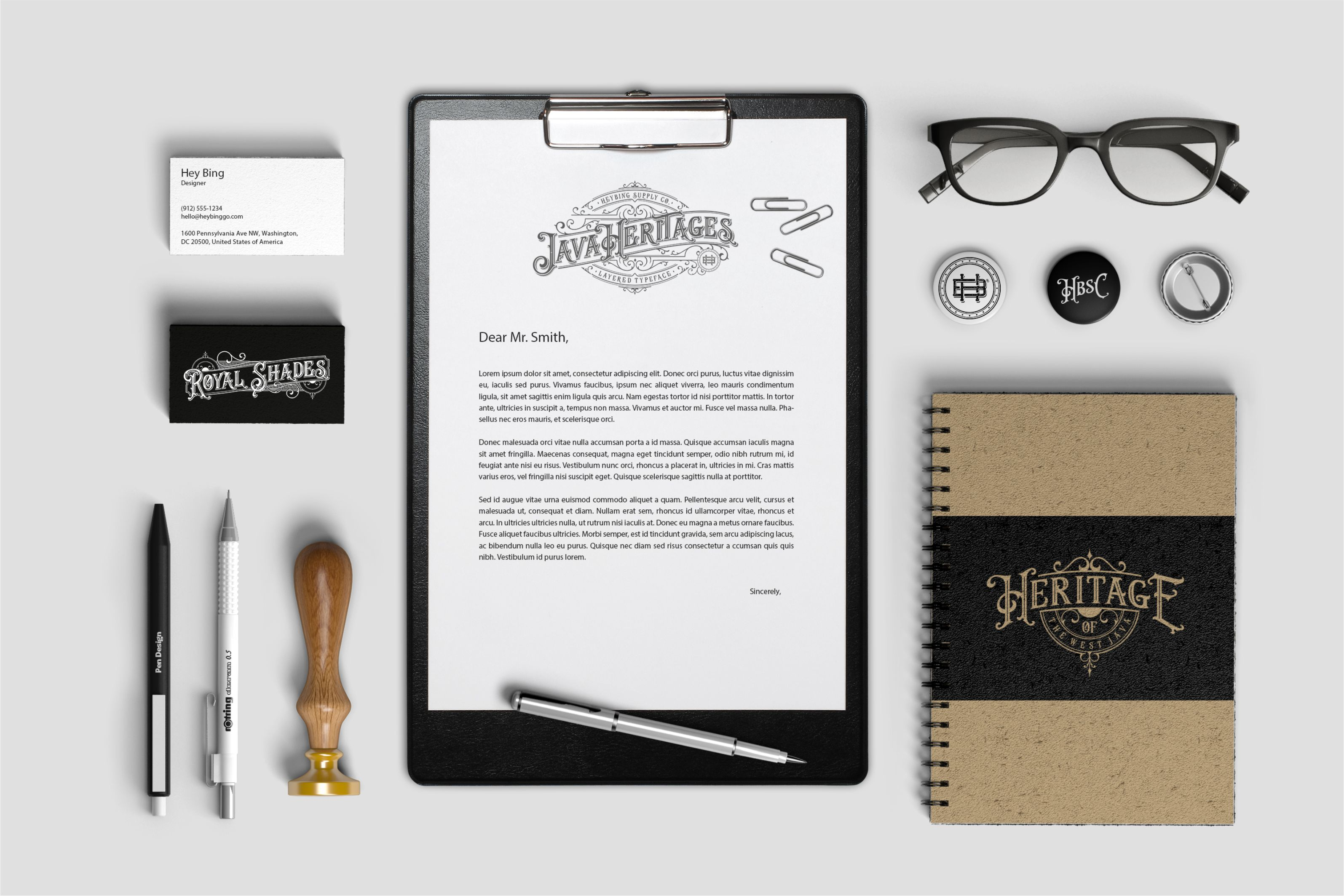 Print on Demand: Java Heritages Display Font By Heybing Supply Co. - Image 4