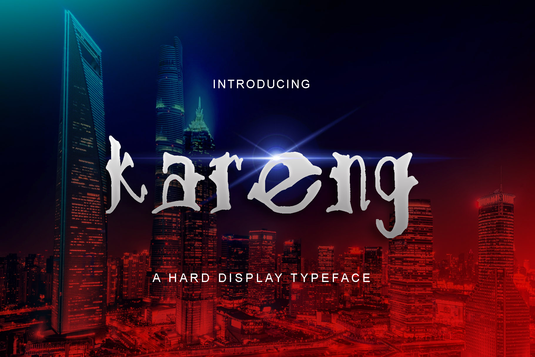 Print on Demand: Kareng Display Font By W INTEREST