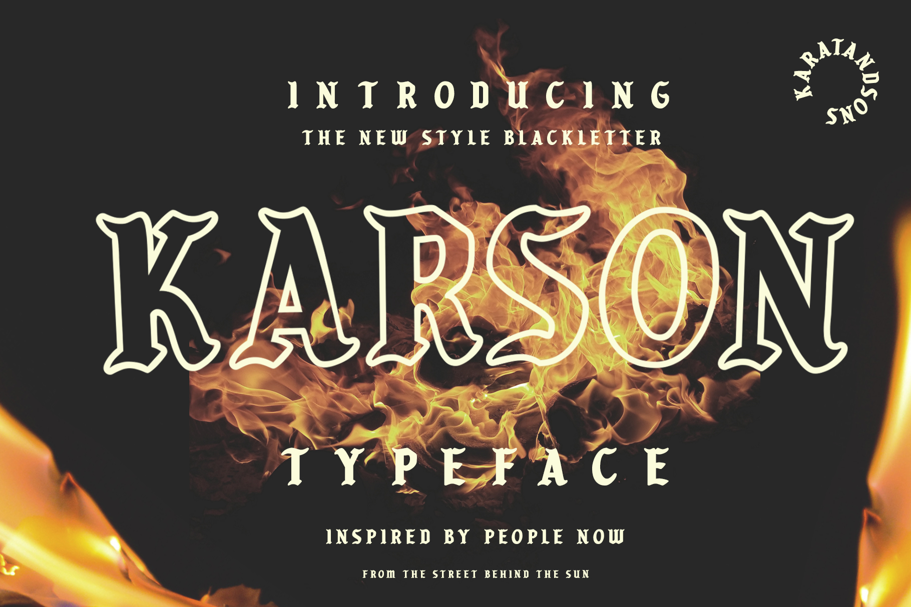 Print on Demand: Karson Blackletter Font By karatandsons - Image 1