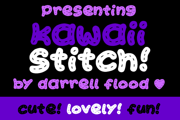 Print on Demand: Kawaii Stitch Display Font By Dadiomouse