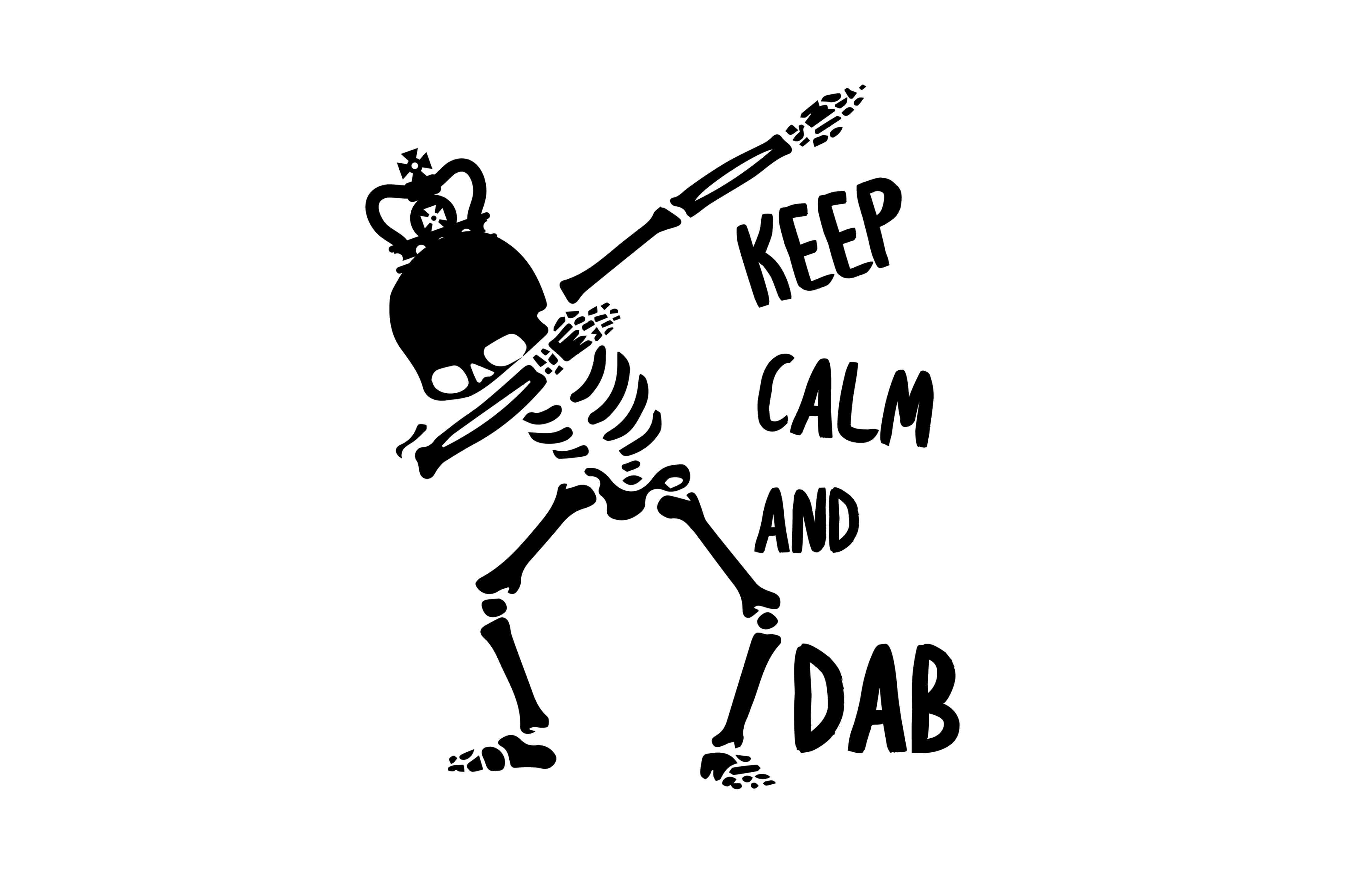 Download Free Keep Calm And Dab Svg Dxf Eps Graphic By Twelvepapers Creative for Cricut Explore, Silhouette and other cutting machines.