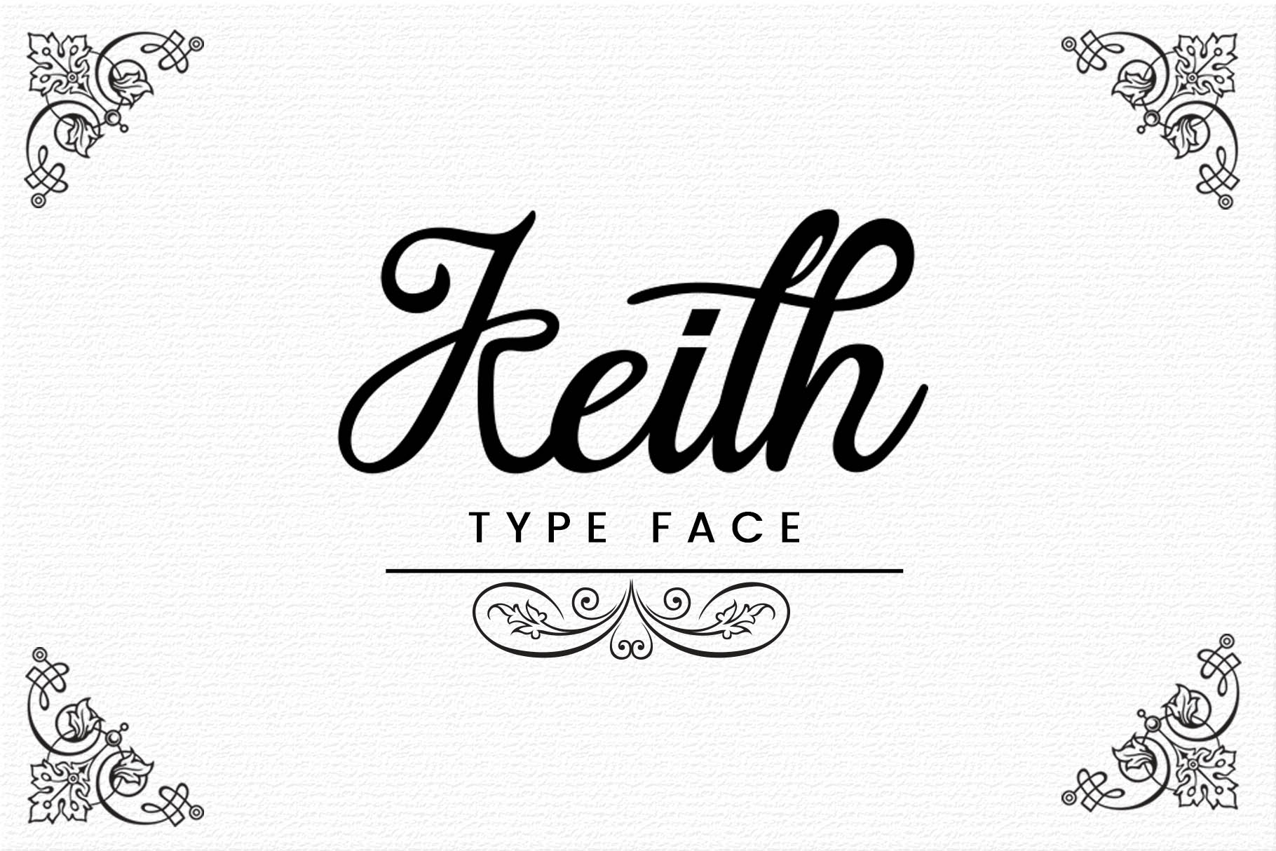 Print on Demand: Keith Script & Handwritten Font By gumacreative