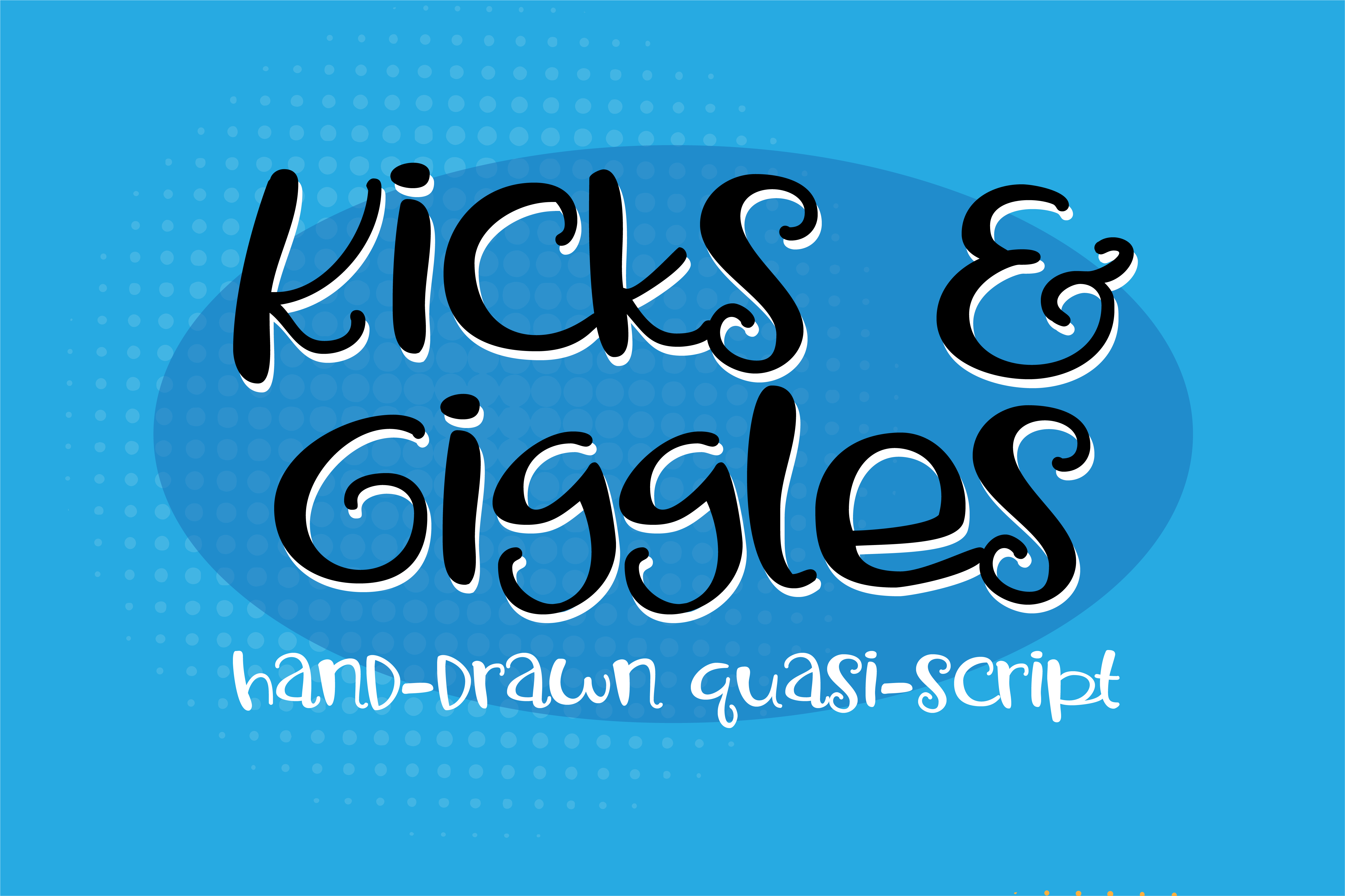 Print on Demand: Kicks and Giggles Sans Serif Font By Illustration Ink