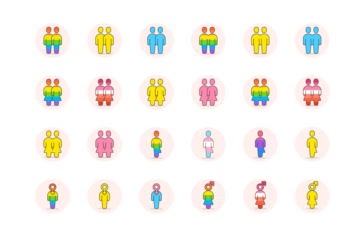 LGBT Digital Illustrations Graphic Icons By Creative Fabrica Freebies - Image 5