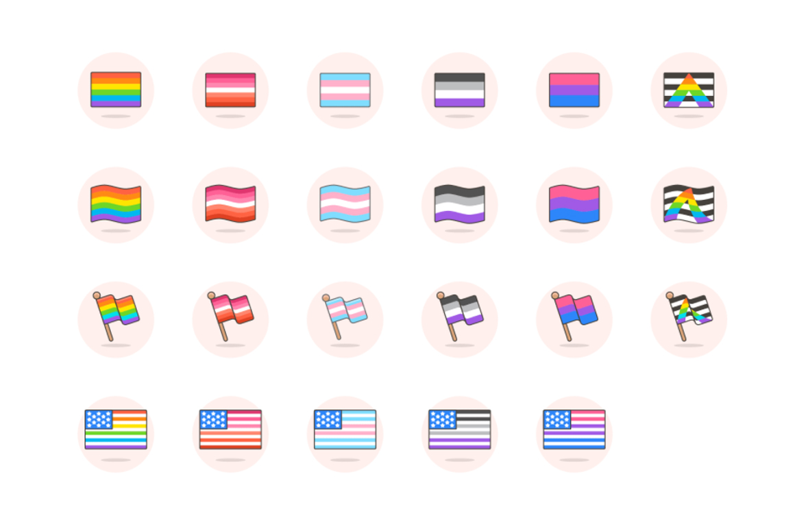 LGBT Digital Illustrations Graphic Icons By Creative Fabrica Freebies - Image 6