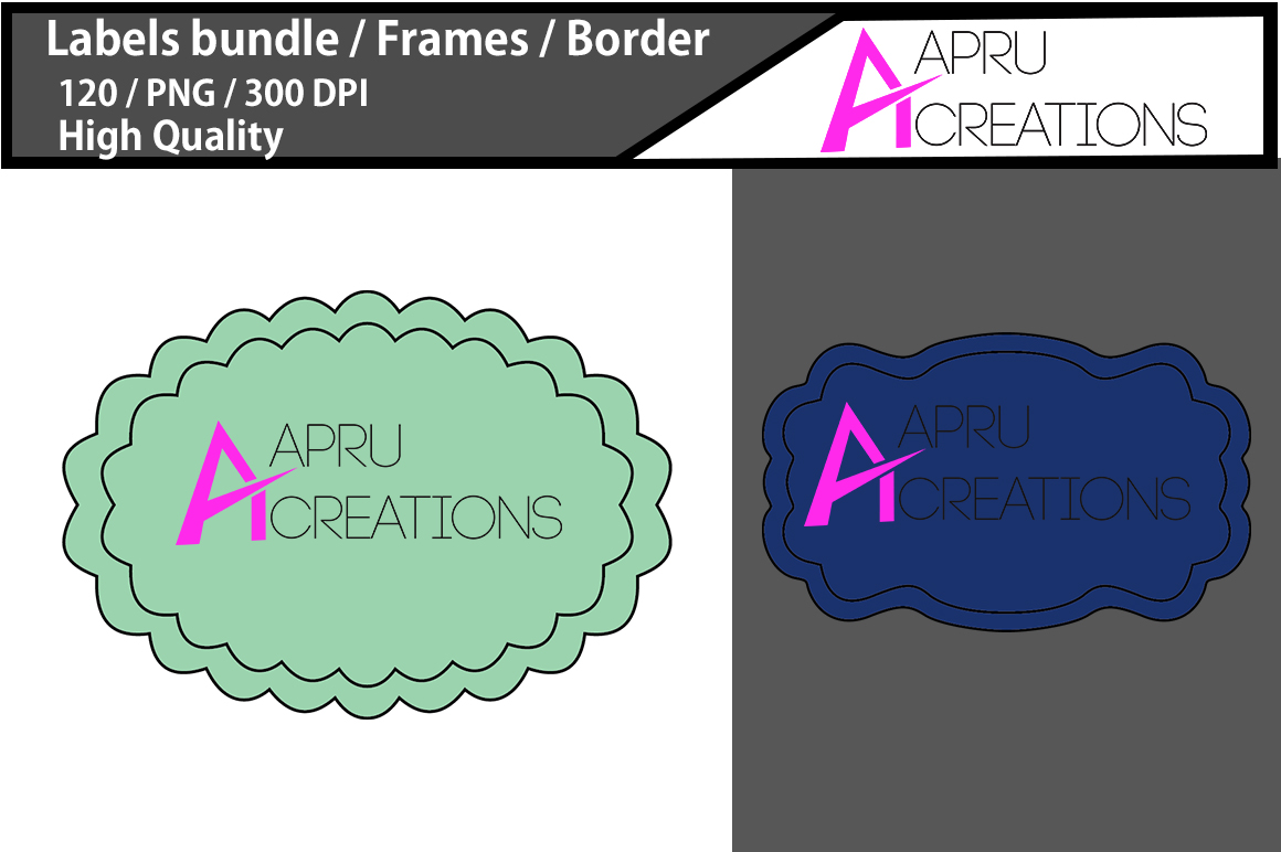 Print on Demand: Label Frames Clipart Graphic Icons By aparnastjp - Image 2