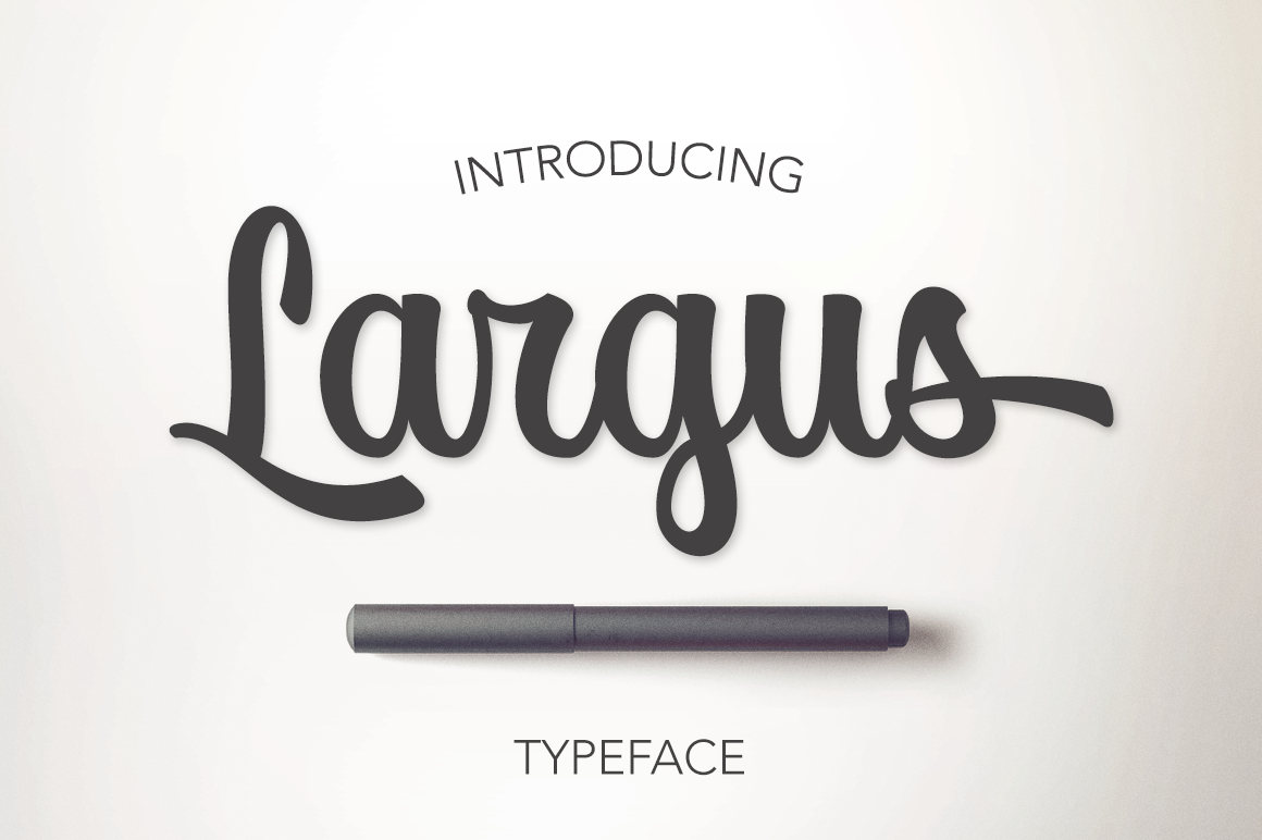 Print on Demand: Largus Script & Handwritten Font By Pasha Larin