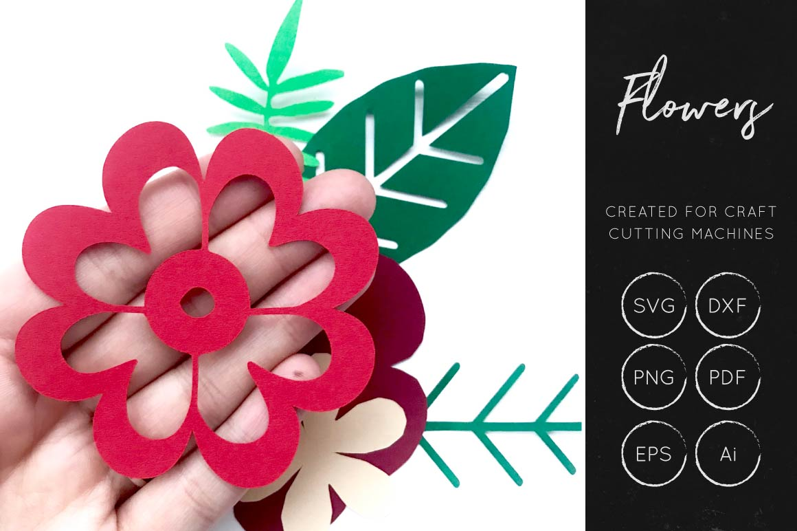 Download Free Layered Flower Cut File Graphic By Illuztrate Creative Fabrica for Cricut Explore, Silhouette and other cutting machines.