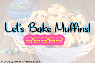 Let's Bake Muffins Font By Misti