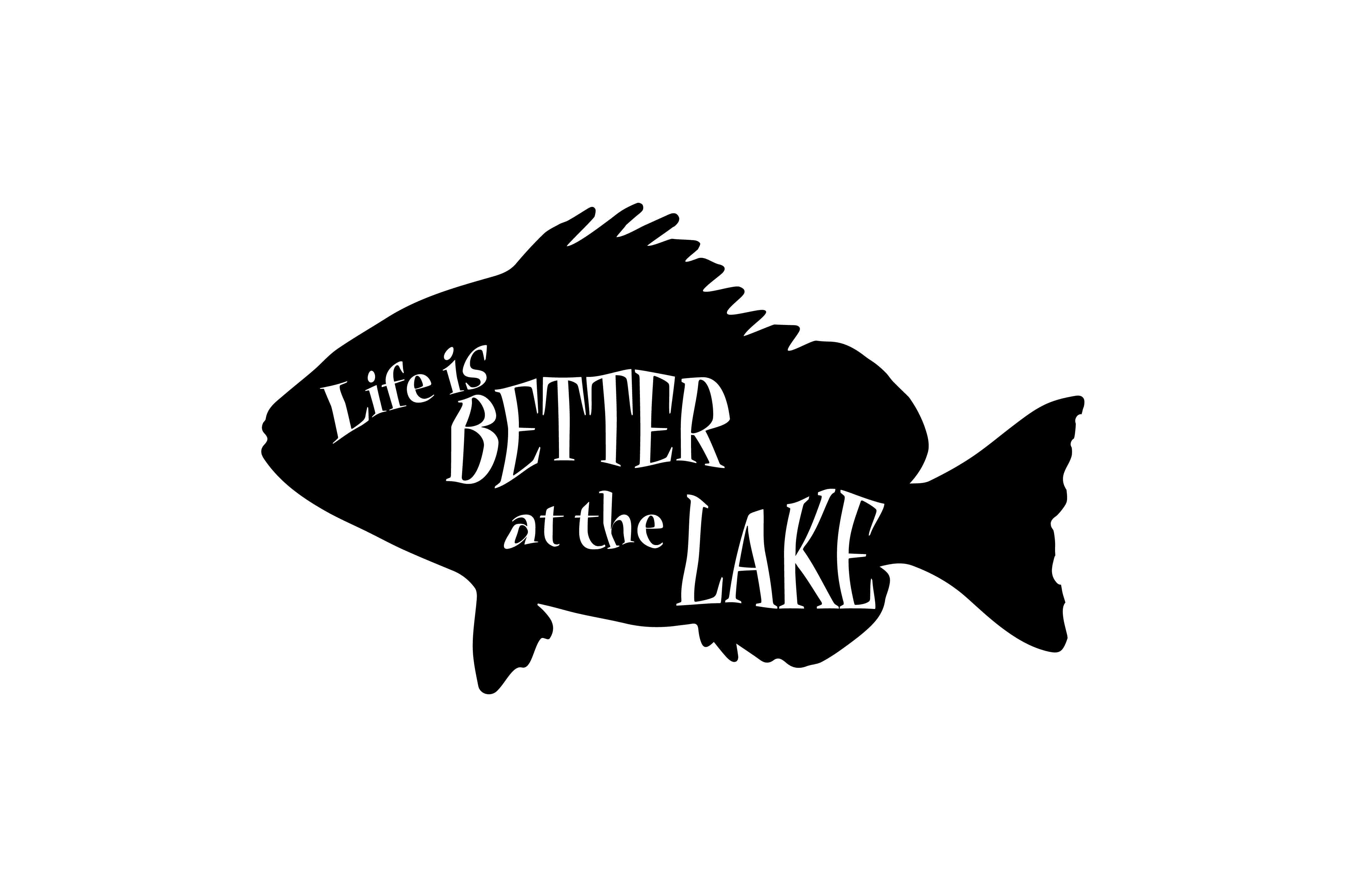 Life is Better at the Lake, SVG DXF EPS Graphic Crafts By twelvepapers