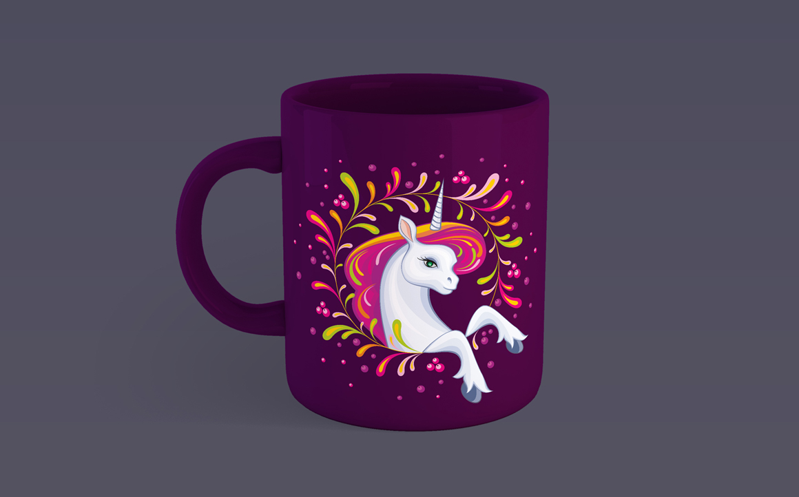 Print on Demand: Little Beautiful Unicorn Vector Illustrations Graphic Crafts By Olga Belova - Image 3