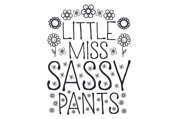 Little Miss Sassy Pants Niños Archivo de Corte Craft Por Creative Fabrica Crafts