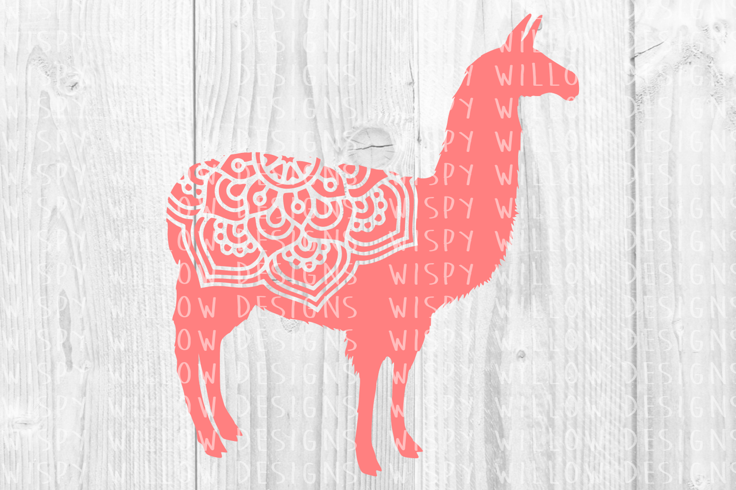 Download Free Llama Mandala Animal Graphic By Wispywillowdesigns Creative for Cricut Explore, Silhouette and other cutting machines.
