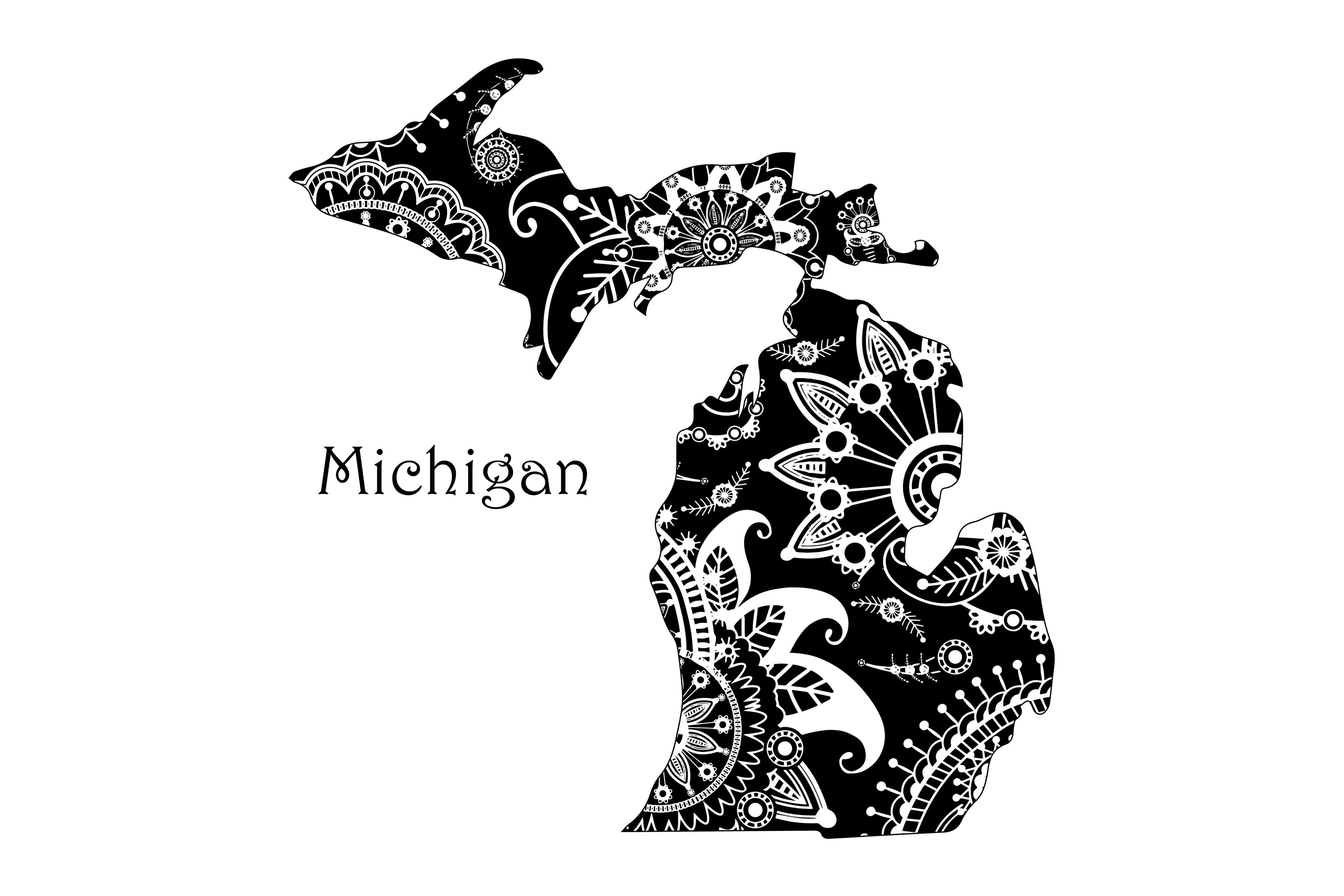 Mandala Michigan Graphic Crafts By twelvepapers