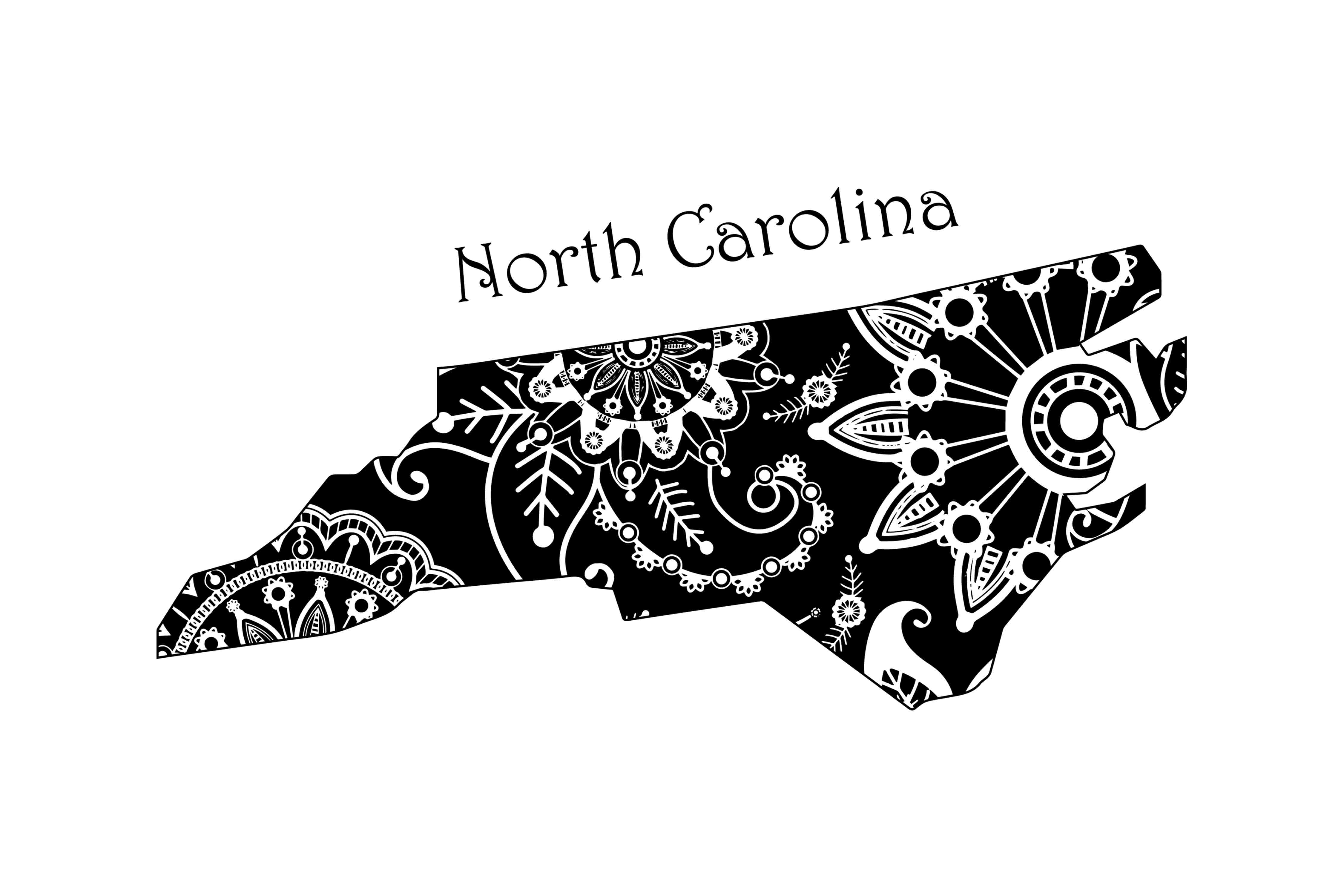 Mandala North Carolina Graphic Crafts By twelvepapers