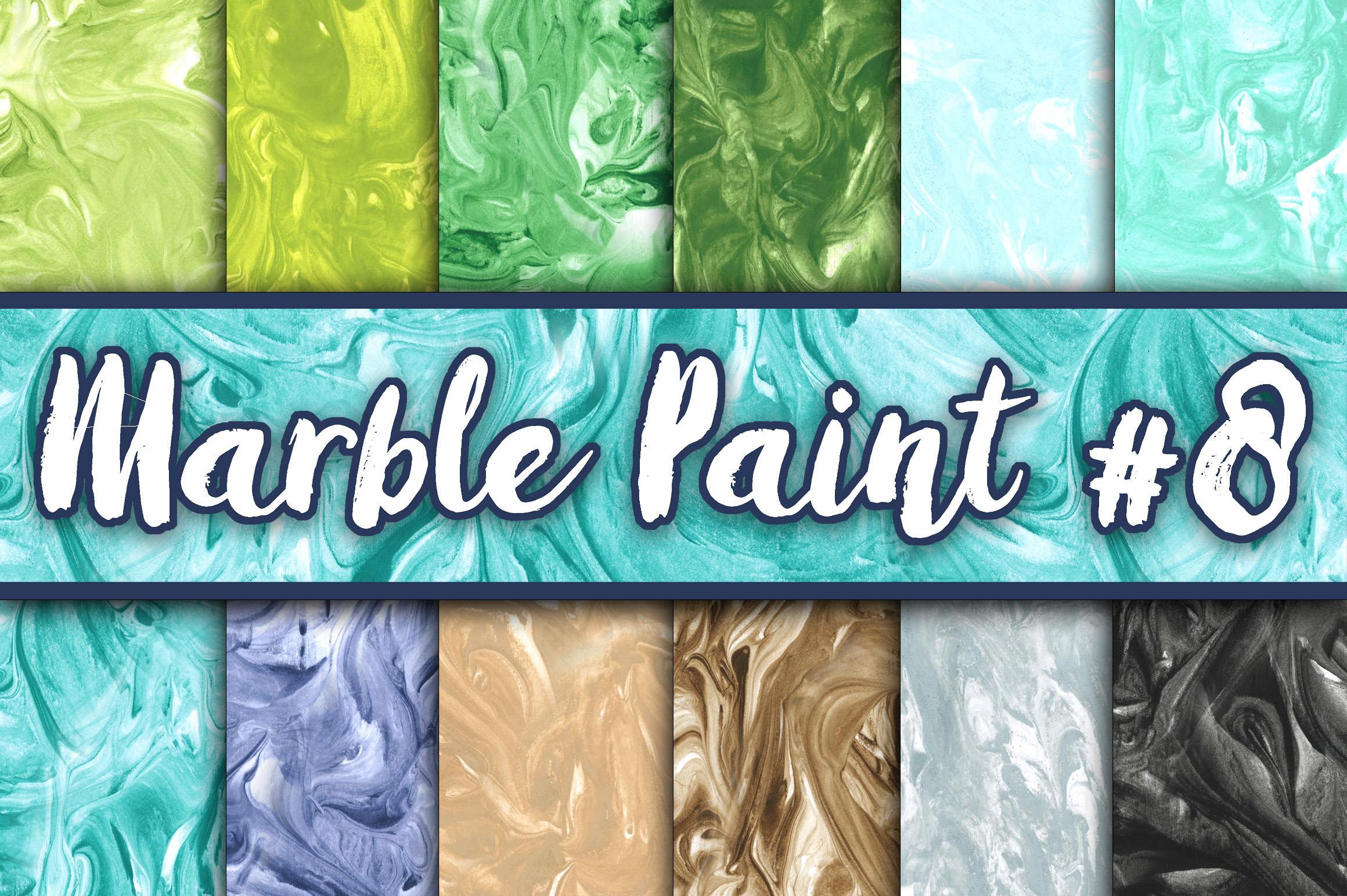 Marble Paint Textures - Green, Blue, Brown and Black Graphic Textures By oldmarketdesigns