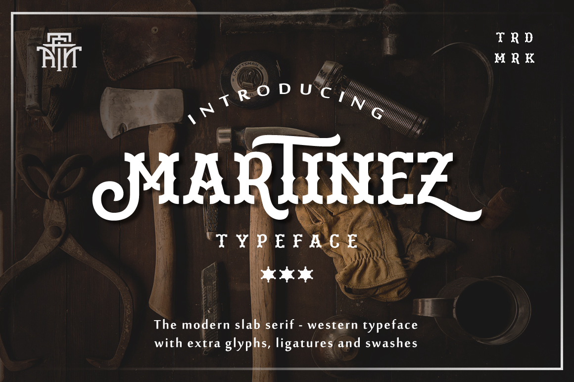 Print on Demand: Martinez Slab Serif Schriftarten von Arterfak Project