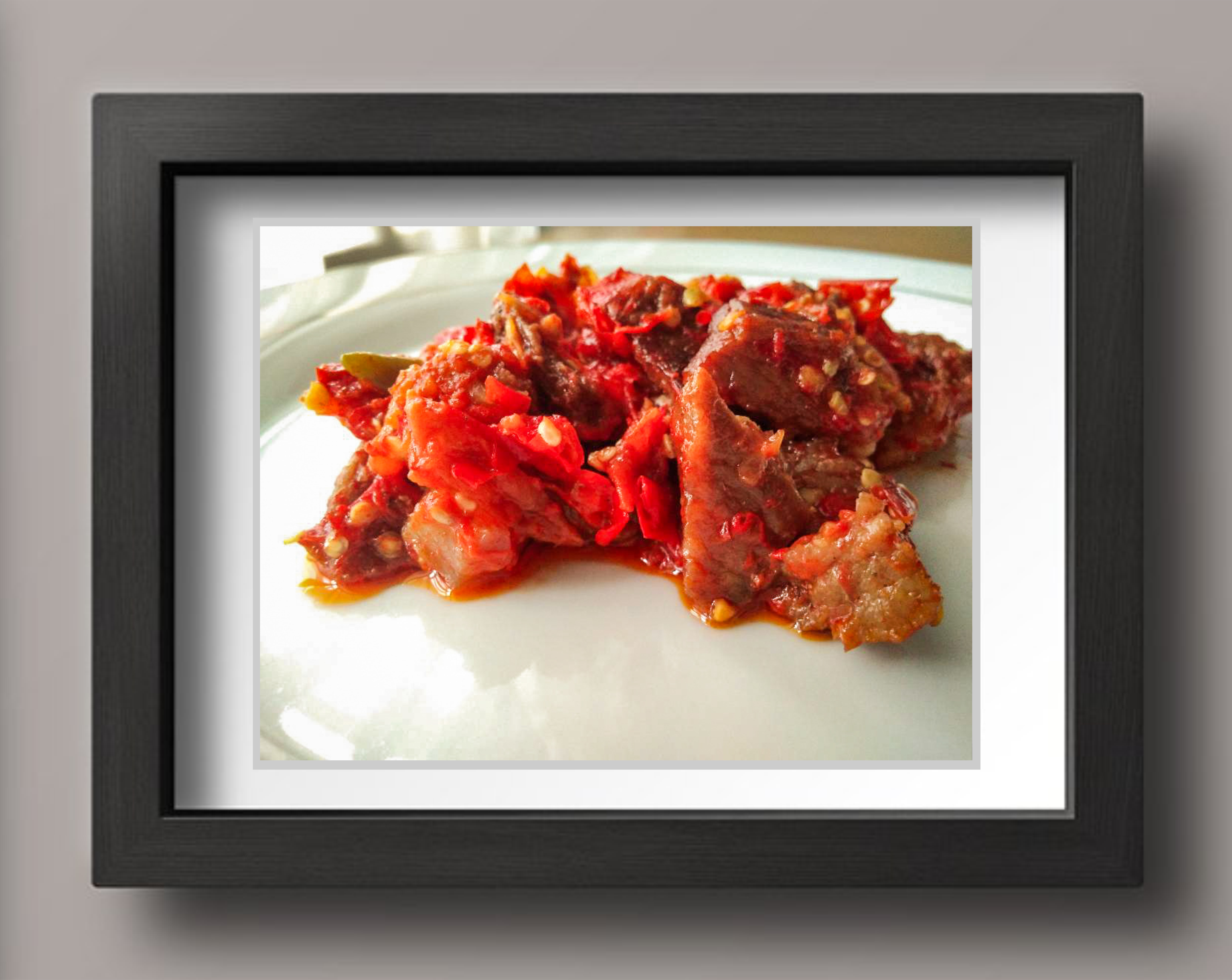 Meat Balad Sambal - Indonesian Food Graphic Food & Drinks By koekprojects