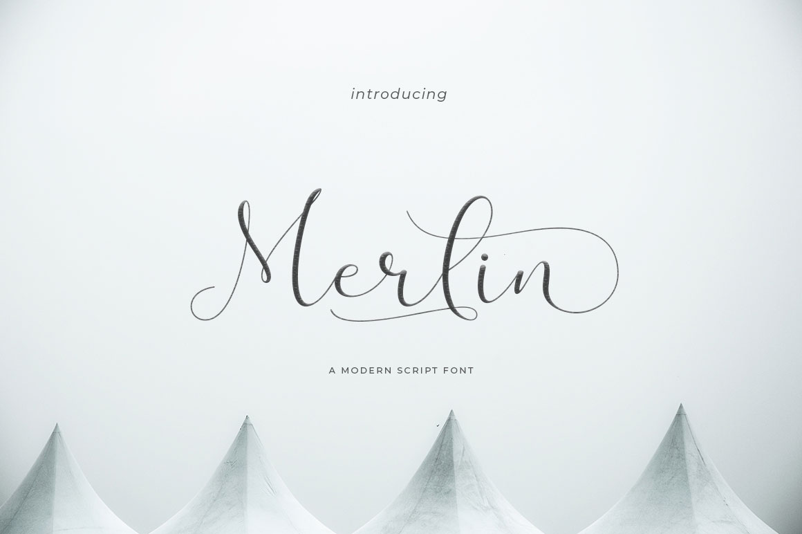 Print on Demand: Merlin Script Script & Handwritten Font By Uloel Design