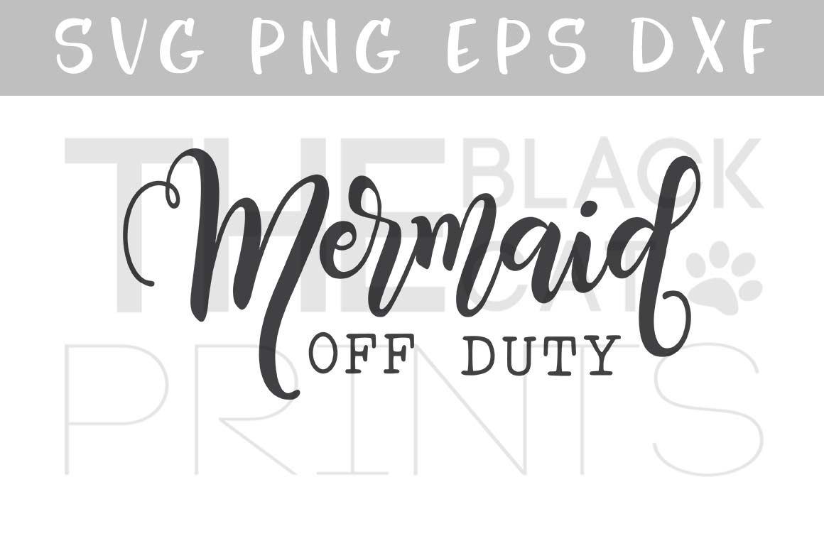 Download Free Mermaid Off Duty Cut File Graphic By Theblackcatprints for Cricut Explore, Silhouette and other cutting machines.