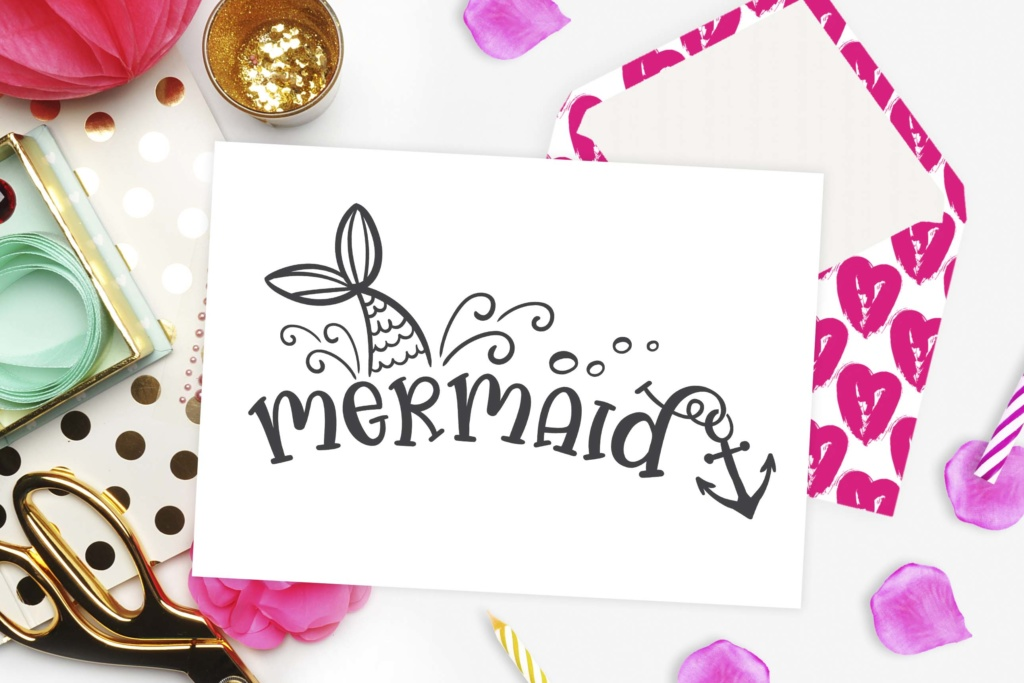 Download Free Mermaid Graphic By Theblackcatprints Creative Fabrica for Cricut Explore, Silhouette and other cutting machines.