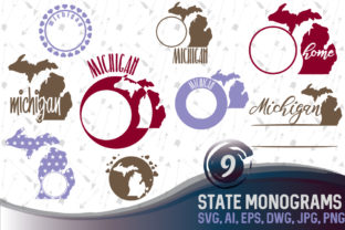 Download Free Michigan State Monograms Graphic By Vector City Skyline for Cricut Explore, Silhouette and other cutting machines.