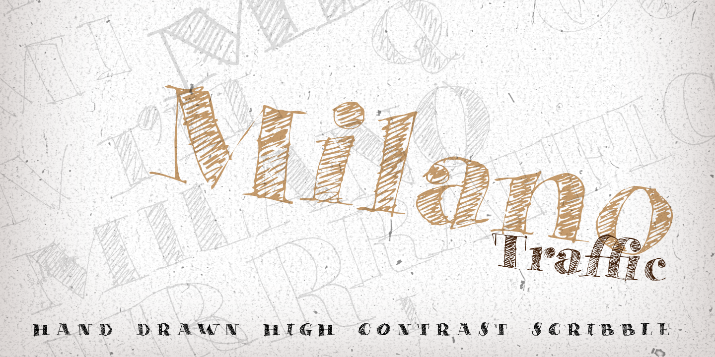 Print on Demand: Milano Traffic Script & Handwritten Font By Roland Hüse Design - Image 1