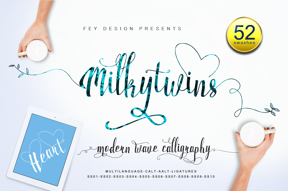 Print on Demand: Milkytwins Script & Handwritten Font By feydesign