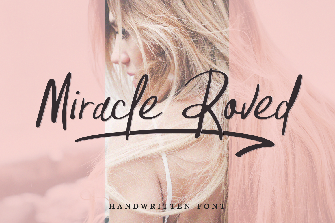 Print on Demand: Miracle Roved Script & Handwritten Font By Pasha Larin