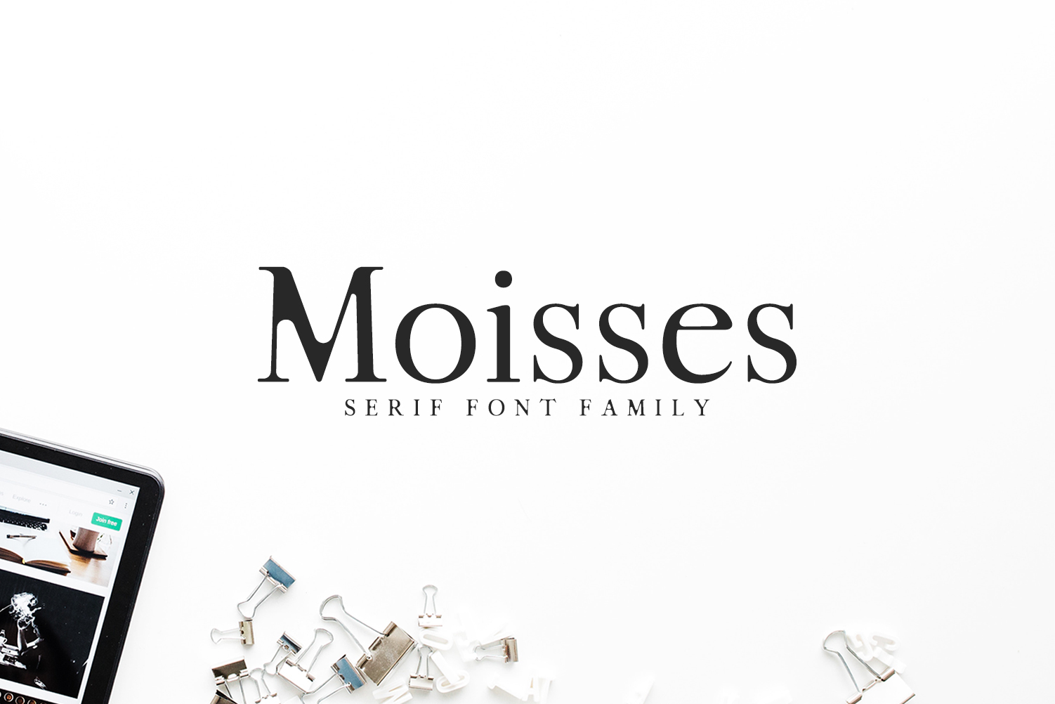 Print on Demand: Moisses Serif Font By Creative Tacos