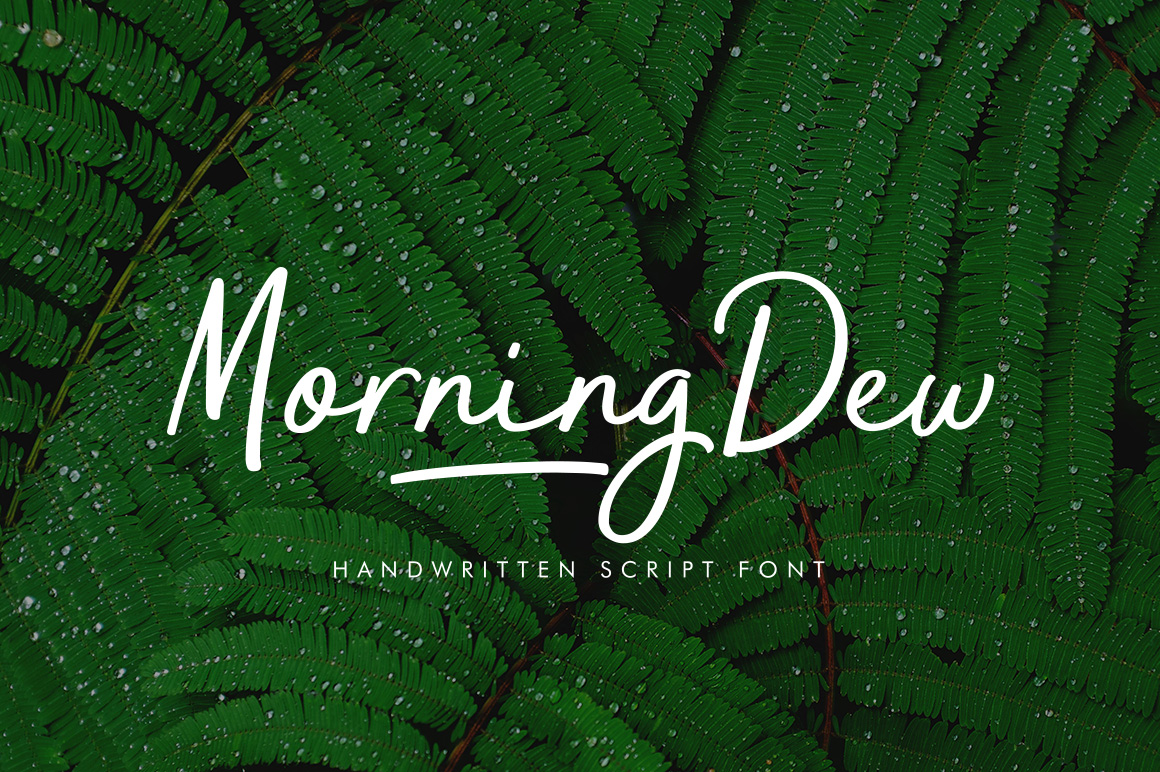 Morning Dew Font By locomotype